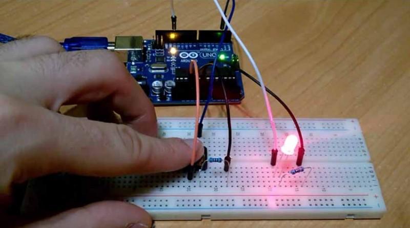 Sensor de pulsadores con códigos